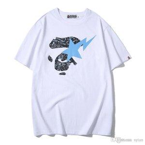 Лето новых людей вскользь Luminous шею с коротким рукавом Футболка подростковая Hip Hop Camo повседневные футболки