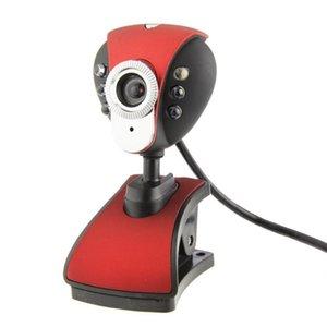 USB Drive Free Video Web Camera Six Lights Night Vision Clip Camera Computer Webcam with MIC Video Call Webcams car