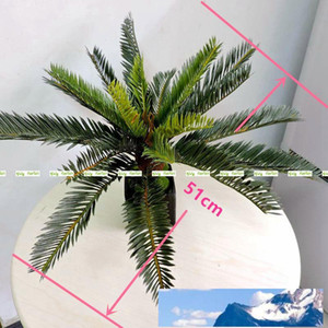 Artificial Phoenix palma de coco Cycas Fern Tree Plantas al aire libre Oficina de sagú Decoración de muebles Bush Green