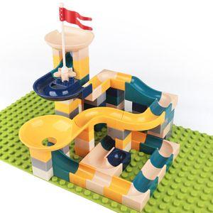 90 Pcs Children Slide Building Blocks, Maze Balls Track Funnel Slide Toys for Kids
