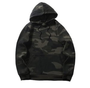 Mens Hoodies High Street Style Hip Hop Oversize Camouflage Sports Loose Hooded Sweater Coat EUR Size S-2XL