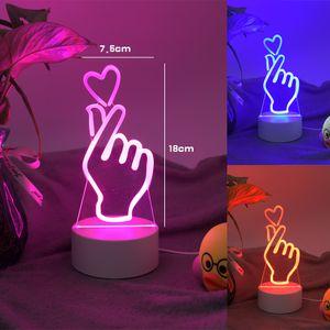 3D Illusion Desk Lamp 7 Color Change LED Table Night Light 3D Optical Illusion Lamp Led Night Light Table Desk Lamp For Home