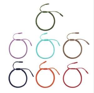 DHL Multi Color Tibetan Buddhist Good Lucky Charm Tibetan Bracelets & Bangles For Women Men Handmade Knots Rope Bracelet nd