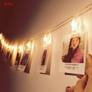 1.5M Battery Powered Photo Clip String Lights Garland Lamp Decorations LED Christmas Lights For Party Holiday Decoration 6z