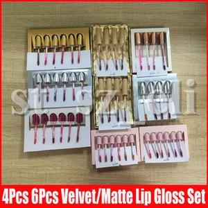 Mini Oro Birthday Edition rossetto liquido Ricevere ulteriori nudi Matte vacanza velluto Koko Rossetto Lip Gloss 6pcs 4pcs set