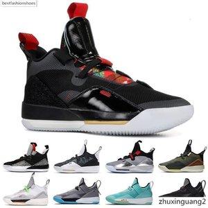2020 New Jumpan 33 33s XXXIII Basketball Shoes CNY Travis Scott Shoe Dark Grey Metallic Silver Black SE Guo Ailun Sports Sneakers