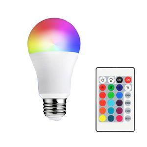 E27 LED 16 Renk Uzaktan Kumanda RGB'nin RGBW Ampul Lamba 85-265V RGB Led Işık Spotlight + IR değiştirme