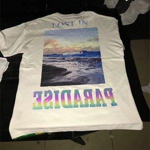 Белый 3M Красочные Светоотражающий Askyurself Футболка Мужчины Женщины Наизнанку Vintage Top Tee Lost In Paradise Askyurself T-Shirt