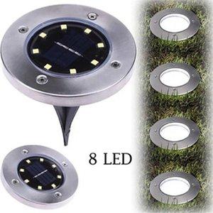 램프 8 LED 지하 빛 지상 야외 빛의 경로 방법 정원 잔디 마당 풍경 장식 램프 IIA269 매장 태양 광 발전
