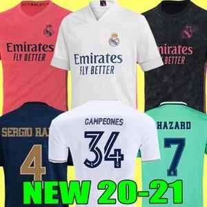 REAL MADRID jerseys Trikots 20 21 Fußballtrikot HAZARD SERGIO RAMOS BENZEMA VINICIUS Camiseta Fußballtrikot Uniformen Männer + Kinder Kit Sets 2020 2021