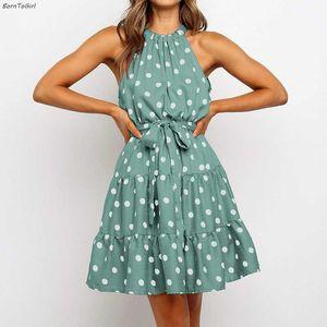 BornToGirl 2020 Summer Autumn Sexy Dress Women Sleeveless Black Pink Green Dress robe femme