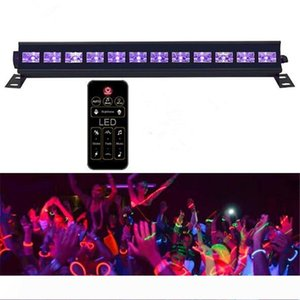 4 Mode Remote Control UV Blacklight 18W 27W 36W 54W 72W UV Bar Glow Black Light in the Dark Party Birthday Wedding Stage Light