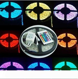 5M LED قطاع الإضاءة مرنة 12V CD RGB 5050 شريط ضوء LED تيراس باهتة IP65 سلسلة 24Key حدة للماء التحكم عن بعد CE بنفايات