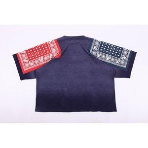 Shirt Hip-Hop Oversize KAPITAL Shoulder Summer Vintage Tee Floral Streetwear Design Drop T-shirt Tops KAPITAL T Print Canfk