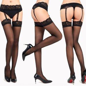 Fancy large size jacquard lace uniform sling high socks Sling high socks socks