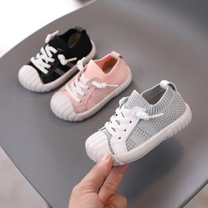 Весна и осень Детские Летающие Woven Спорт Кроссовки 1-3 лет малышей Повседневная обувь малышей кроссовки