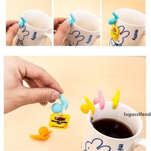 Silicone Tea Bag Holder Fashion Mix Color Cute Snail Shape Mug Hanging Tool Practical Party Glass Cup Separating Clip 0 4yy R