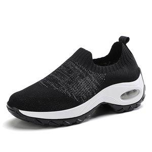 VEAMORS Height Increasing Walking Shoes Mesh Breathable Women Weave Socks Sport Shoes Ladies Sneakers Platform