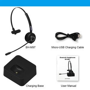 New BH-M97 Headset Earphone Professional Wireless Bluetooth 5.0 Headphone Microphone Office Working Headset Driving Earphone