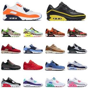 Nike Air Max 90 ênis chaussures ao ar livre reverso Duck Camo total Laranja Dancefloor Verde Air mens sneakers treinadores desportivos