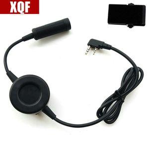 XQF PTT spina del cavo per Z-Tactical Comtac II H50 H60 MSA HD03 Auricolare per Kenwood Baofeng UV-5R Ham Radio