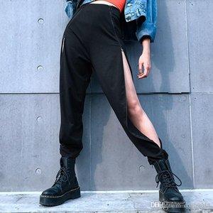 cloth Free Shipping Hot 2020 explosion models women's new pants irregular split zipper casual pants women's hip hop pants trousers