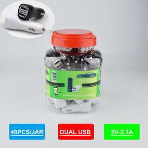 Doppel-USB-Auto-Ladegerät in Plastikgefäß Gebühr für Mobiltelefon mit zwei USB-Anschluss und UPC-Barcode beliebten Auto-Ladegerät 2100mA