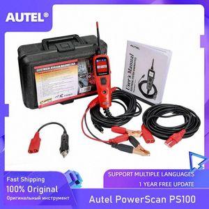Los probadores de prueba probador de circuitos Sistema eléctrico de Autel PowerScan® PS100 12V / 24V Diagnóstico Herramienta Cables YkBf #