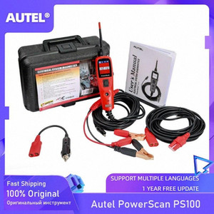 Autel PowerScan PS100 Elektrik Sistemi 12V / 24V Tanı Devre Tester Aracı Elektriksel Test Testi YkBf # Leads