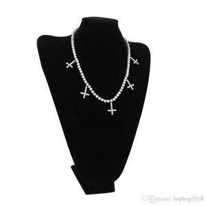 Hip Hop Chains Bijoux Bling Hommes Or Argent Glacé Tennis chaîne Fashion Cross collier pendentif