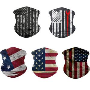 Multi Purpose Neck Gaiter Trump écharpe magique Masque réutilisable Visage Bandana brimless Chapeau d'impression Drapeau américain Eagle D2
