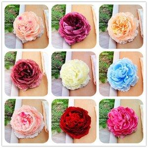 Juegos Olímpicos de la Navidad del banquete de boda Mini Rose Cabeza de flor de las flores artificiales decoración del hogar artesanía multicolor Adornos 7 -8cm