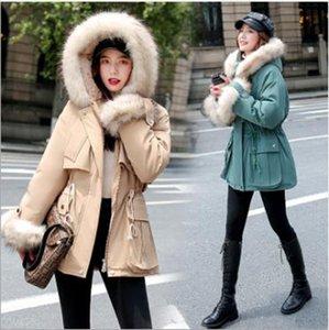 Wholesale fashion women's mid-length winter clothing new loose plus velvet parka coat