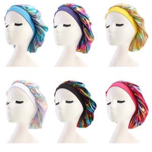 Müslüman Kadınlar Geniş Stretch Nefes Bandana Gece Saç Aksesuarları Parti RRA3379 Malzemeleri Turban Şapka Headwrap Bonnet Kemo Cap Sleeping