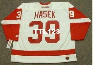 Men # 39 Dominik Hašek Detroit Red Wings 2002 CCM Tk Startseite Hockey Jersey oder benutzerdefinierten beliebigen Namen oder Nummer Retro Jersey