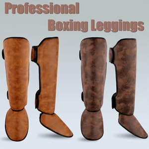 Muay Thai Parastinchi collo del piede riempie la protezione Kicking Ankle Support arti marziali Training Leg Kick Boxing Attrezzature Leggings