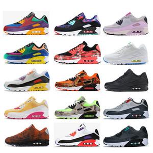 Nike Air Max 90 Beyaz Hayalet Yeşil Kamuflaj Mars Landing Biz Love The Ten Çöl Cevheri siyah beyaz kırmızı spor ayakkabılar Ördek koşu ayakkabıları yeni erkekler kadınlar