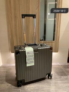 Valizler Yüksek kaliteli PC aşınma önleyici malzeme TSA gümrük kalınlaşmış kilidi alüminyum alaşım bavul Açısı büyük kapasiteli Valizler Havacılık boxe