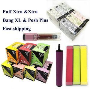 Os mais recentes Mr Vapor Air PUFF XTRA XTRA bang XL descartável vape 510 bateria fio vaporizadores Pods Vapor Posh bang XL caneta vape vazia
