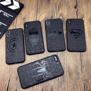 아이폰 X 11 PRO XS MAX XR 8 7 6 기가 플러스 전화 커버 소프트 매트 3 차원 실리콘 아이언 맨 스파이더 맨 어벤저 스의 coque 사례에 대한 마블 경우