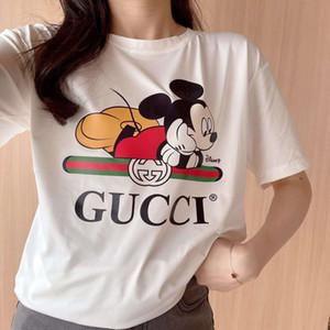 2020 США женщины дизайнер футболки случайные ретро женские футболки с коротким рукавом хлопка летом верхнего уровня материалов Лучшие письмо вышивка футболки
