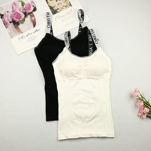 Elegant Women Casual Tank Tops Summer Women's No Steel Ring Integrated With Chest Pad Vest Bottoming Shirt Casual Sleeveless Top