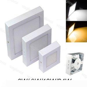 다운 라이트 표면의 LED 12W 18W LED 패널 빛 SMD2835 원형 천장 아래로 램프 주방 욕실 조명 AC 110V 240V DHL 탑재