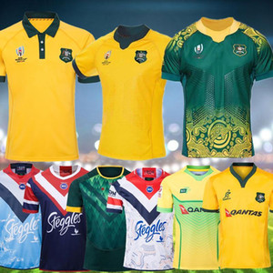 2019 Japan World Coupe Australie Wallabies Rugby Jersey Sydney Roosters Rugby League Jerseys 2019 Chemise australienne Maillot de Rugby S-3XL
