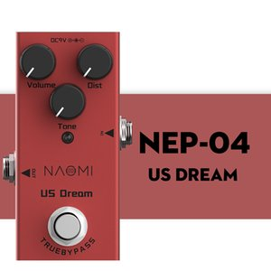 NAOMI US Dream Distortion Guitar Pedal Mini Guitar Effect Pedal DC 9V True Bypass For Electric   Acoustic Electric Guitar
