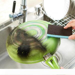 New Arrival Nanometer Diamond Sand Sponge Descaling Clean Magic Pan Pot Windows Cleaning Brush Sponge Kitchen Accessories