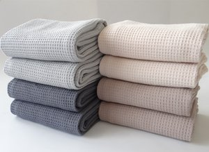 5Pcs Lot Restaurant Table Large Napkin Linen Napkins Kitchen Towel Cleaning Cloth Tea Towel Cotton Waffle Cotton Embroidery Dish towel