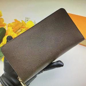 M62581 N60111 N63502 Zippy Organizer محفظة المرأة سستة طويلة محفظة أحادية الجلود مخلب دفتر شيكات السفر حاملي محافظ البريدي