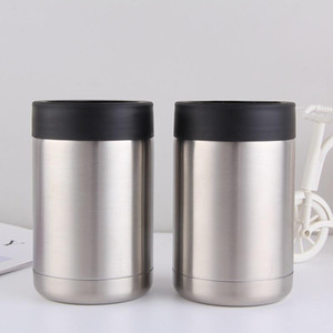 12oz Can Cooler Stainless Steel tumbler Beer Bottle Cold Keeper Can Vacuum Insulated Bottle Insulation Cans Free Shipping DHB657
