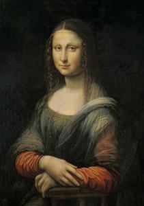 portrait Leonardo Da Vinci Mona Lisa Home Décor peint à la main HD Imprimer Peinture à l'huile sur toile Wall Art Toile Photos 200801